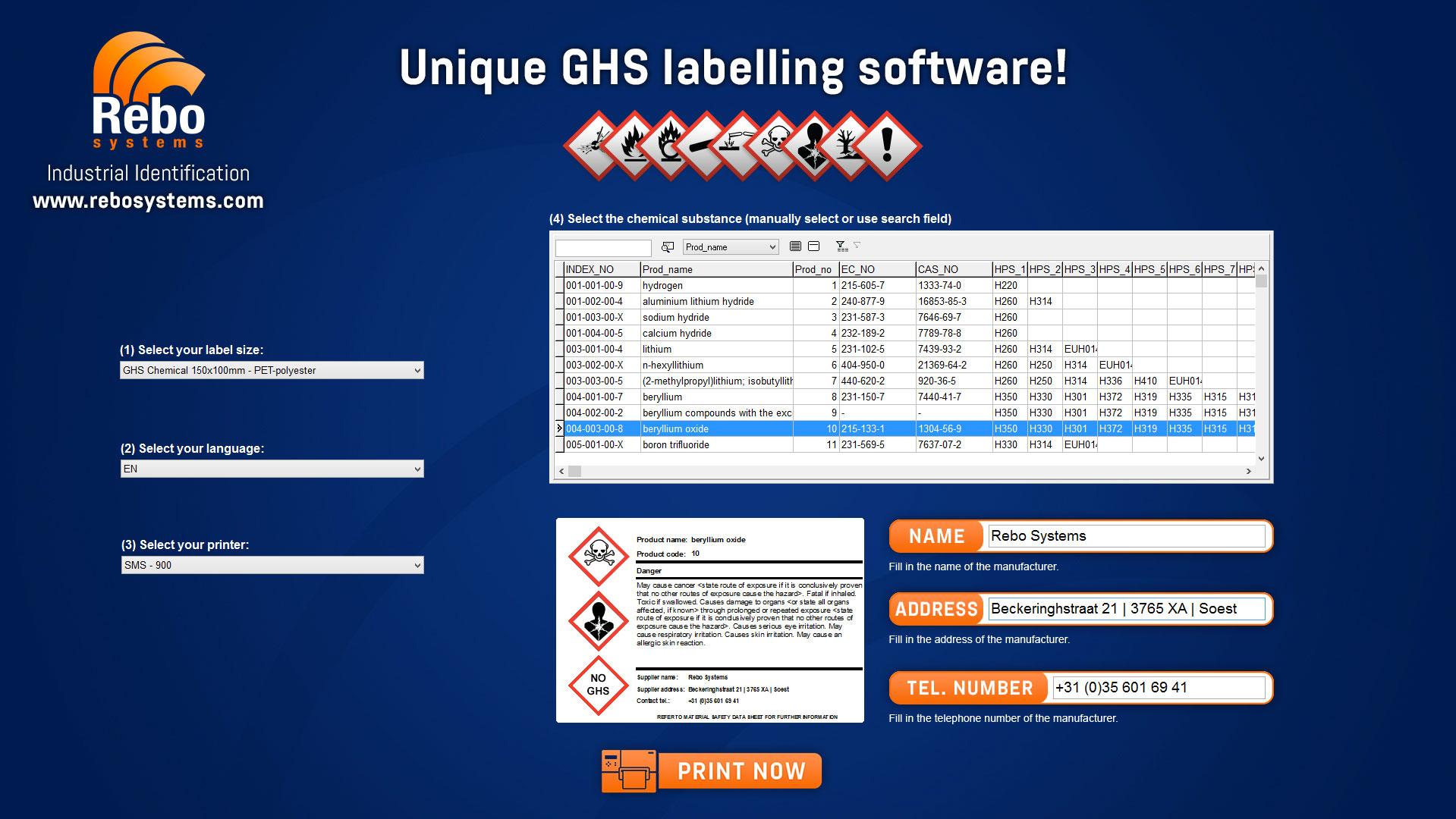 GHS label software