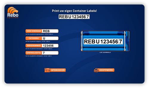 Container labels software