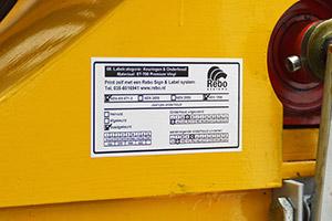 Keuringsstickers, inspectielabels en kalibratie-stickers bedrukt u allemaal met een labelprinter van Rebo. Volgens normen zoals NEN 3140 en met úw logo en/of gegevens.