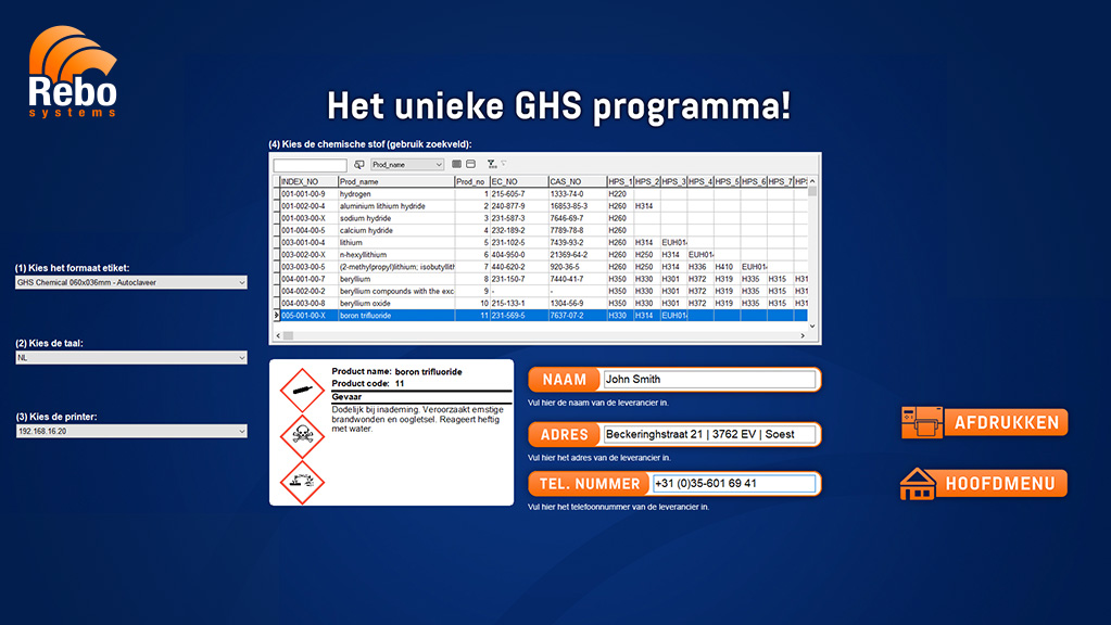 CLP/GHS labelling solution | NiceLabel Powerforms