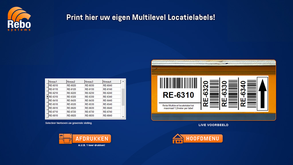 Multi-level location labelling solution | NiceLabel Powerforms