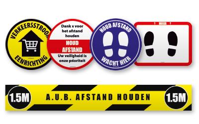 Floor stickers, Floor marking & Floor signs | Corona/COVID-19 prevention