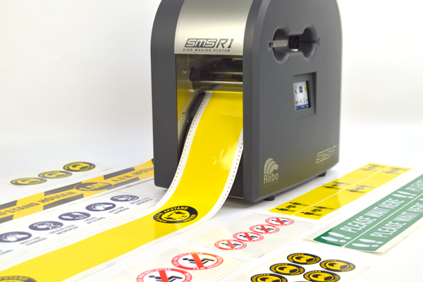 SMS-R1 | The ideal printer for all of your safety signage and Covid-prevention labelling