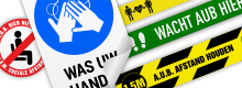 Multi-colour Warning Stickers & Safety Signs